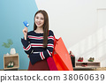 Everyday life of beautiful young woman, shopping, working concept photo in studio shot white background. 342 38060639