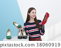 Everyday life of beautiful young woman, shopping, working concept photo in studio shot white background. 351 38060919