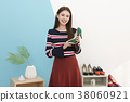 Everyday life of beautiful young woman, shopping, working concept photo in studio shot white background. 323 38060921