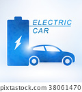 Electric car charging station symbol icon 38061470