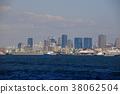 오사카 중심부를 바다에서 바라 보는 38062504