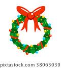 christmas, wreath, garland 38063039