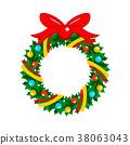 christmas, wreath, garland 38063043