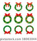 christmas, wreath, garland 38063044