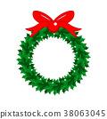 christmas, wreath, garland 38063045