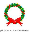 christmas, wreath, garland 38063074