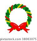 christmas, wreath, garland 38063075