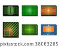 Variety sport fields icon 38063285