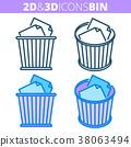bin, icon, waste 38063494