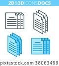 document, icon, 3d 38063499