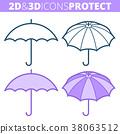 protection, icon, umbrella 38063512