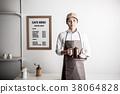 카페 점원 바리 스타 38064828