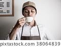 카페 점원 바리 스타 38064839