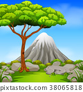Beatiful mountain in forest 38065818