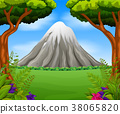 Beatiful mountain in forest 38065820