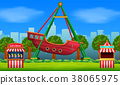 Amusement park scene at daytime 38065975