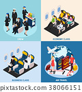 Airplane Passengers Concept Icons Set 38066151