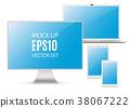 computer vector monitor 38067222