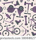 Pale violet pattern with cycle teenager transport 38068627