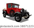 Vector retro truck 38071223