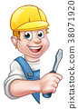 electrician builder cartoon 38071920