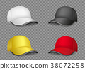 multicolor caps set template 38072258