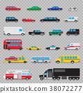 auto transport icon set 38072277