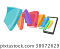 Books Electronic Library Tablet Illustration 38072629