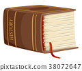 Thick Book History Illustration 38072647