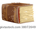 Thick Old Book History Illustration 38072649