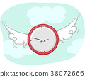 Clock Wings Flying Illustration 38072666