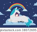 Kid Girl Sleep Dream Unicorn 38072695