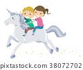 Kids Stickman Ride Unicorn 38072702