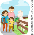 Stickman Family Alpaca Feeding 38072708