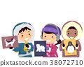Stickman Kids Arctic Animals Flash Card 38072710