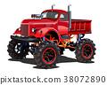 Cartoon Monster Truck 38072890