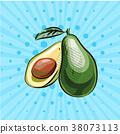 avocado vector illustration 38073113
