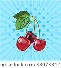 樱桃 矢量 矢量图 38073842