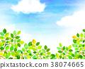 햇살 푸른 하늘 질감 배경 소재 38074665