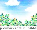 햇살 푸른 하늘 질감 배경 소재 38074666