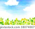 햇살 푸른 하늘 질감 배경 소재 38074667