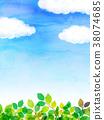 藍天 葉子 樹葉 38074685