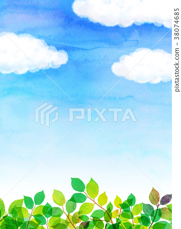 햇살 푸른 하늘 질감 배경 소재 38074685