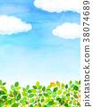 햇살 푸른 하늘 질감 배경 소재 38074689