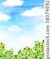 햇살 푸른 하늘 질감 배경 소재 38074692