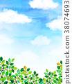 햇살 푸른 하늘 질감 배경 소재 38074693