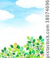 햇살 푸른 하늘 질감 배경 소재 38074696
