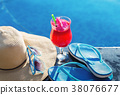 Watermelon juice drink glass flower sunglasses 38076677