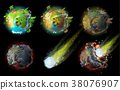 Stages of earth death vector concept illustration 38076907