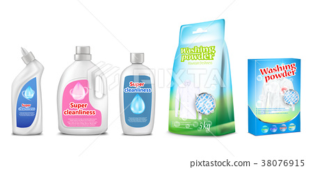 Household chemicals vector illustration of toilet 38076915